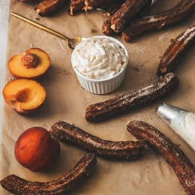 Peaches and Cream Filled Churros