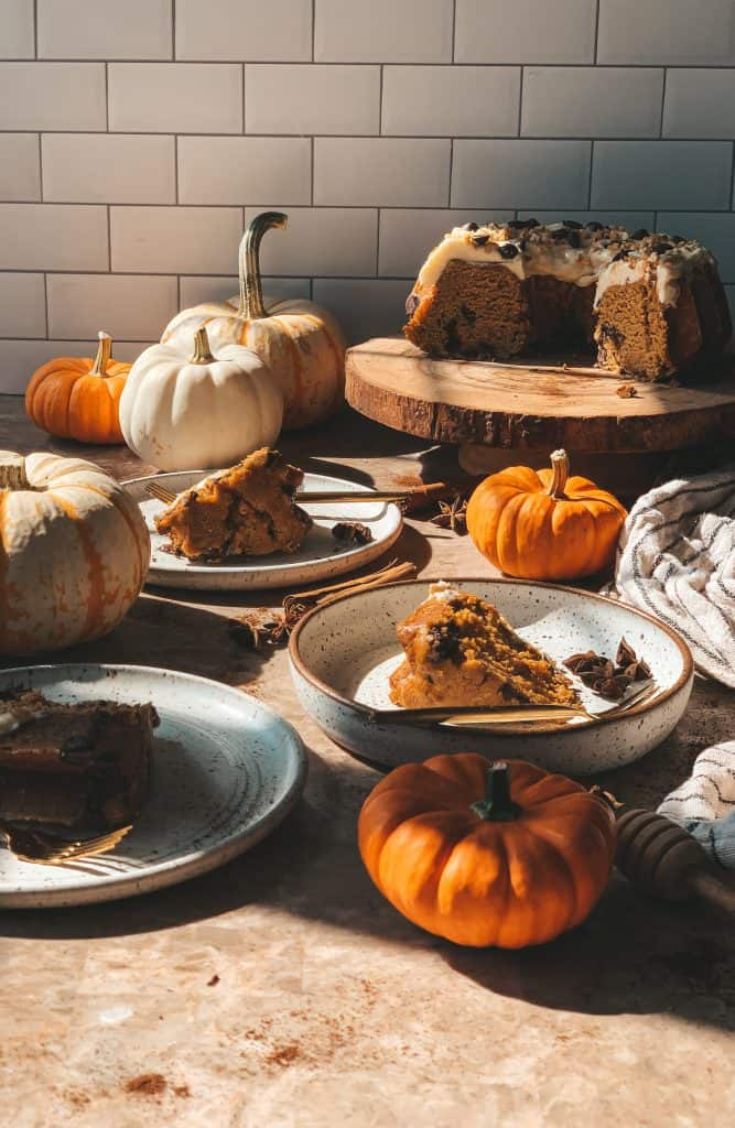 cakes and pumpkins